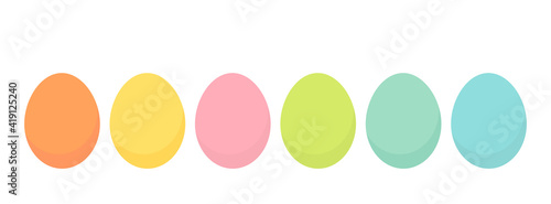 Obraz Easter eggs collection in bright pastel colors. Spring holiday. - fototapety do salonu