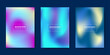 Collection of colorful gradient background templates. Vector illustration.