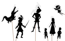 Peter Pan Storytelling, Isolated Shadow Puppets.