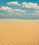 The waves of the wind and the sky in the arid desert