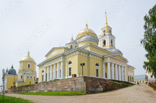 Monastery of the Nilo-Stolobenskaya desert. Epiphany Cathedral and the Church of St. Nile. Tver Region, Russia © koromelena