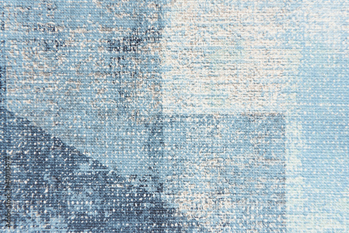Obraz textured background of pastel blue painted canvas, top view - fototapety do salonu