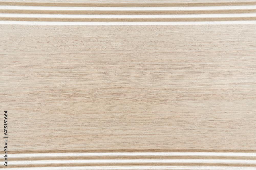 Fototapeta background of grey, wooden laminate flooring with frame, top view - obraz na płótnie