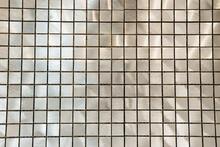 Grey Nacreous Tiles Background, Top View