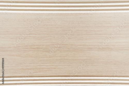 Fototapeta background of grey, wooden laminate flooring with frame, top view obraz na płótnie