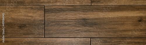 Obraz brown, wooden laminate flooring background, top view, banner - fototapety do salonu