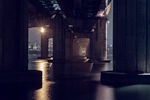 This Is A Picture Taken Under A Bridge Where You Can Feel The Darkness. This Is A Nice Picture With An Apocalyptic Feel.