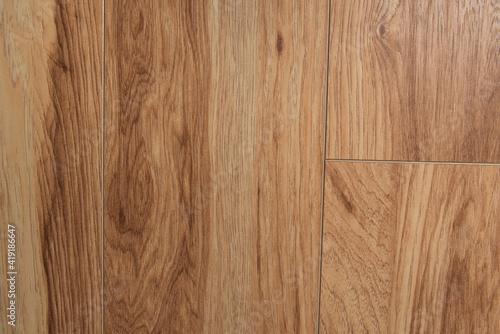 Obraz brown, wooden flooring background, top view - fototapety do salonu