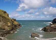 Beautiful Deserted Cove In Tintagel Cornwall England
