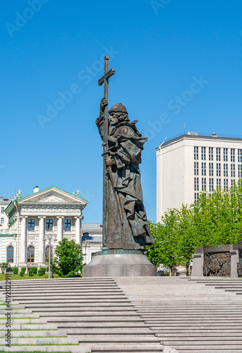 Monument to Vladimir the Great in Moscow, Russia Fototapeta