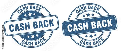 Foto cash back stamp. cash back label. round grunge sign