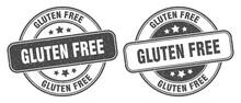 Gluten Free Stamp. Gluten Free Label. Round Grunge Sign