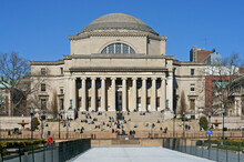 Low Memorial Library On Morningside Heights Campus Of Columbia University In Spring. New York City