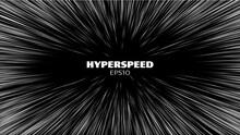 Hyperspeed Vector Background. Hyper Speed Hyperspace Star Travel. Warp Speed Light Futuristic Background. Warp Jump