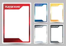Hockey Player Card Frame Template Design
