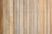 Wood Plank Wall Texture For Background. Full Frame