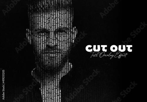 Obraz Cut Out Text Overlay Photo Effect Mockup - fototapety do salonu