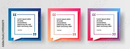 Obraz na płótnie Set of Social Media Post Design Template for Quotes
