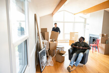 Men Moving Into New Home