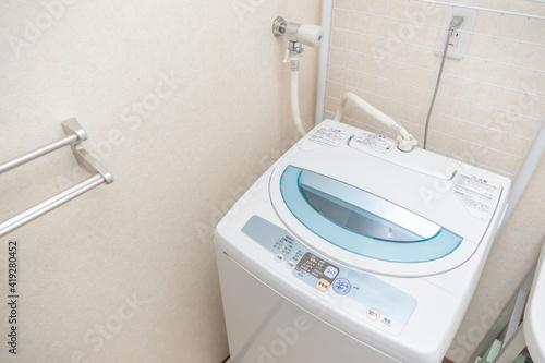 Obraz 縦型洗濯機 - fototapety do salonu