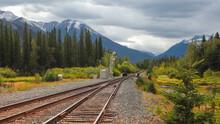 Train Tracks Through Banff National Park