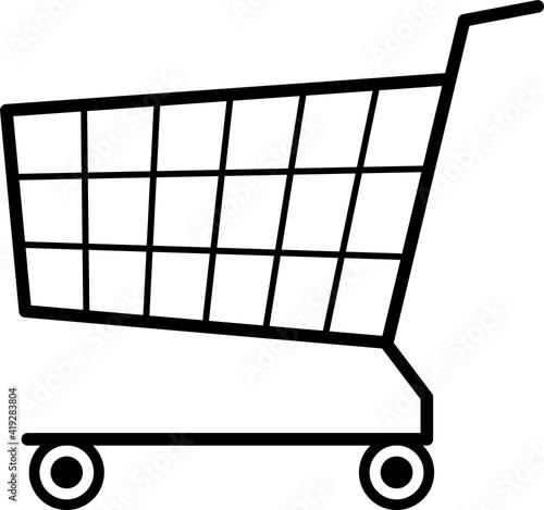 Fotomural シンプルなショッピングカートのマーク