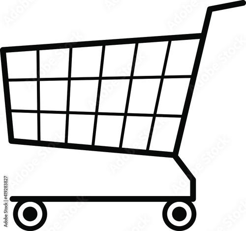 Cuadros en Lienzo シンプルなショッピングカートのベクターイラスト