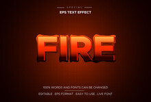 Text Effect Fire With Hot Flames