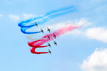 Air Show With Color Smoke