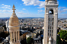 Panorama Of Paris City From Top Of  Bell Tower Of Sacred Heart Church