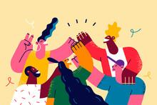 Celebrating International Friendship Day Concept
