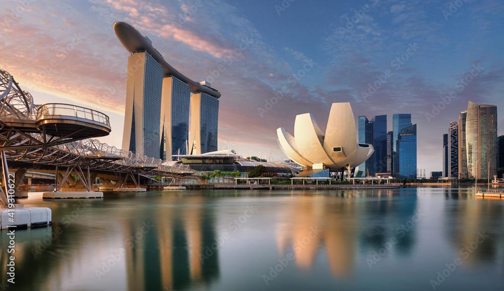 Fototapeta Singapore skyline - downtown city