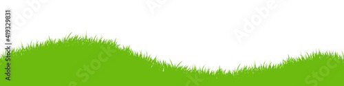 Papel de parede Green vector grass meadow on white background
