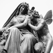 Four Times A Day. Women As Symbol Of The Night. She Comforts Her Resting Child While The Winged God Of Sleep And Dreams Morpheus, Whispers In Her Ear And Puts Her To Sleep.