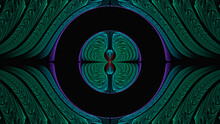 3d Effect - Abstract Green Fractal Pattern