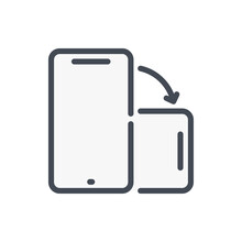 Rotate Mobile Phone Color Line Icon. Smartphone Rotate Vector Outline Colorful Sign.