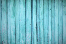 Old Wooden Painted Blue Boards. Close-up. Vertical View. Background. Texture.