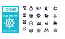 Nautical Icons Vector Design