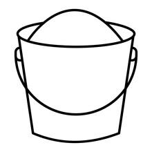 Vector Pail Outline Icon Design