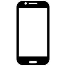 Smartphone Icon. Simplified Picture For Signs.