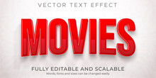 Movie Cinema Text Effect, Editable Film And Show Text Style