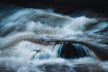 Close Up Of Flowing Water In River
