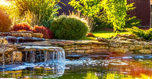 Fotografia beautiful landscaping with beautiful plants