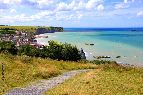 View over the D-day beaches at Arromanches les Bains, Normandy, France Fototapete