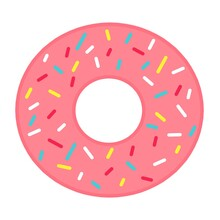 Donut In Colored Glaze. Food. National Donut Day. Donut Day