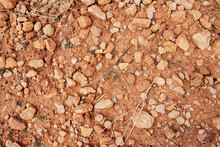 Ground Texture Background With Stones