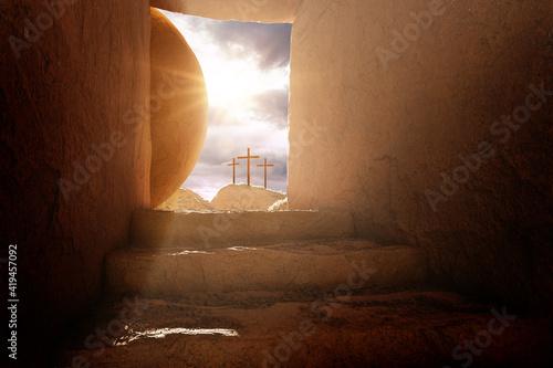 Crucifixion and Resurrection Fototapeta