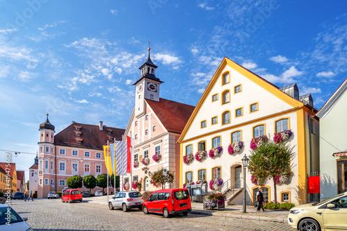 Obraz Rathaus, Marktplatz, Greding, Deutschland  - fototapety do salonu