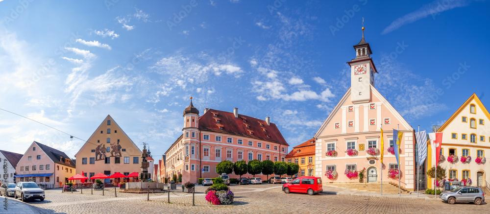 Fototapeta Rathaus, Marktplatz, Greding, Deutschland