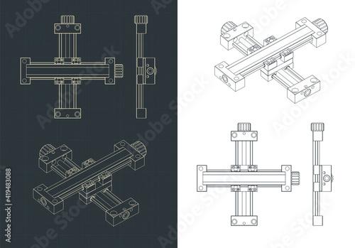 Obraz na plátne XY Linear actuator drawings